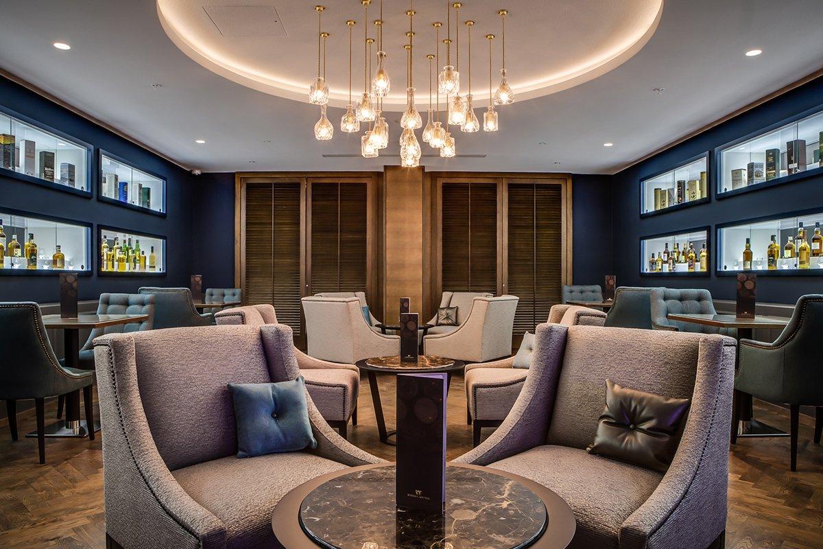A lounge in a Hilton Hotel in London
