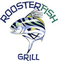 The logo for Rooster Fish Grill.