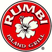 The logo for Rumbi Island Grill.